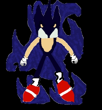I drew a pic of dark sonic its bad... BUT I DID 1!