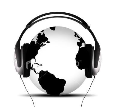 Listening to music!