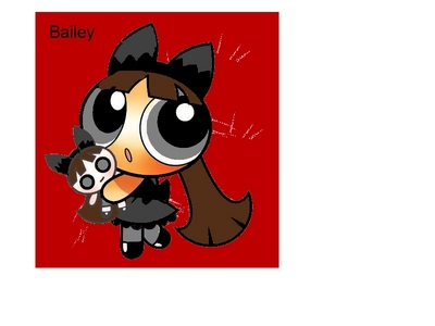 Name:Bailey Eye Color:Gray clothes:Same as the clothes in the picture Hair color: dark brown Hair type:Just like blossom's hair Skin Color:Tan Pose:Like she is in the picture (don't include doll she's holding) person:PPunk Type:Wallpaper Background:Anything that looks good with her