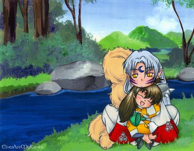 Inuyasha. :) hahahah. and idk how many...