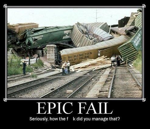 Tell me about it!! :D All aboard the Fail-Train. Have your tickets ready, please!!