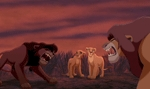 When Simba was running towards the আগুন I saw the whole pride follow him but when he reached Kiara it was just him and Nala.What happed to the rest of the pride.