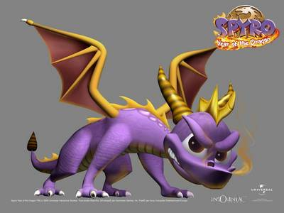 Spyro! of maybe any other dragon like Saphira :) Charizard is a Dragon right?