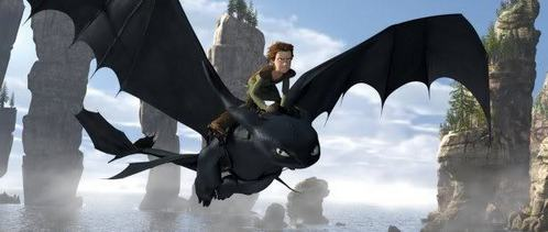 i think of Toothless! He's so cute!!!