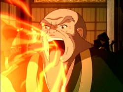 iroh (his nickname is dragon of the west.)