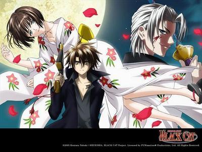 Black Cat all the way:x:x But it's also a tie with Katekyo Hitman Reborn^^