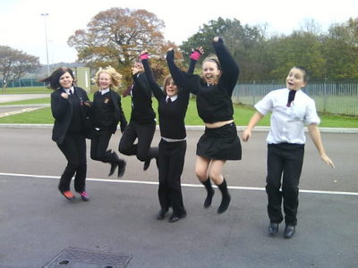 My M8s trying to 'fly'.... (I'm not in this coz I was the one taking the pic hahah) :D