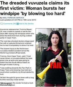 Vuvuzelas are evil.