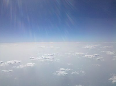 I took this from my phone on a plane the other day. It's somewhere over Florida.