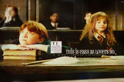 Yes, yes, and a million times YES! I upendo RonxHermione. They are perfect for each other <3