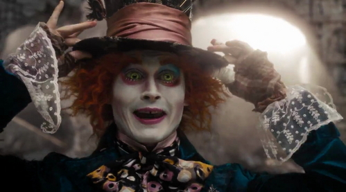 """1.There is a place. Like no place on Earth. A land full of wonder, mystery, and danger! Some say to survive it: You need to be as mad as a hatter WHICH LUCKILY I AM. 2.What a regrettably large head you have. I would very much like to hat it. I used to hat The White Queen, you know. Her head was so small.  3.You used to be much more...""""muchier."""" You've lost your muchness.(i love this one) 4.Down with the bloody Red Queen!  5.You would have to be half-mad to dream me up.(this one's my most favorite)"""