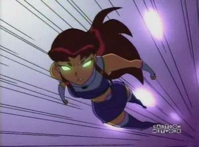 Starfire!!! Then Robin, Raven, Cyborg and, last but not least, Beast Boy!!!
