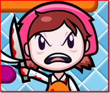 Female tombody girly and cute girl whos loves cooking mama mama kills aniamls Meh i cinta BLOOD look at the BLOOD *evils laugh*