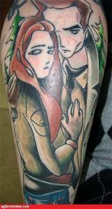 My sister sent me this....... It's a complete fail... ...I think it's supposed to be Bella and Fairy Boy---er, Edward- from... duh... Twilight.