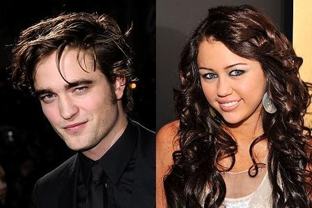Miley Cyrus/Hannah Montana atau Robert Pattinson
