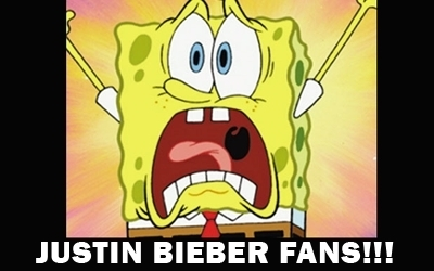 Justin Bieber's fangirls screaming! GAH! ZOMG JUSTIN BIEBER! AHHH! Good for you!