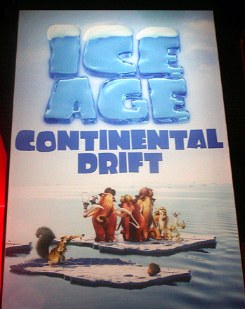 """Ice Age 3 is set at least 2 years after Ice Age 2 because the pregnancy time of an elefante is around 18 months (we don't know for sure how long it was for a mammoth). Now, we don't know how much time happened between Ice Age and Ice Age 2, could have been only a few days, weeks, months or even years. The Ice Age 4 poster features a """"teenager Peaches"""" (in fact it is only a reversed, smaller image of Ellie with blond hair, that means how cheap raposa is at creating promotion material). I guess the baby (who had 1 or 2 at Ice Age the first) would have from 8 to 12 years in Ice Age 4 if he returns."""