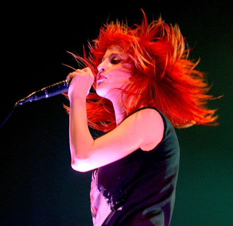 Hayley's epic hair flip.