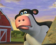 If Otis is a male cow why does he have udders.Only female cows have udders.