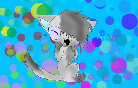 I did one!! Hope it's not too late to enter. :B Okay, I drew Echo, one of my tagahanga characters, as a Chibi puff cat. ^^ Hope I get a chance!