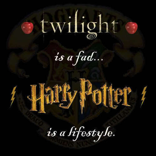 That´s fine for you. I think Harry Potter is better than Twilight.