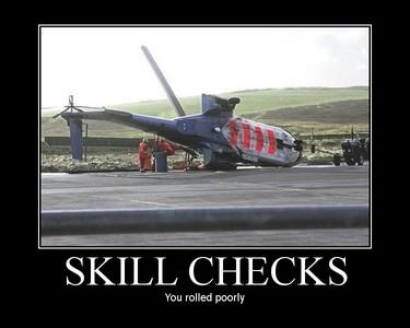 i call it a fail! but is says skill checks XD