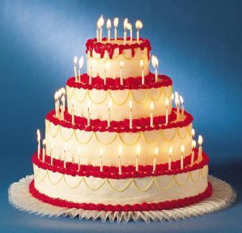 Happy Birthday!!!Look,I made toi a pie!