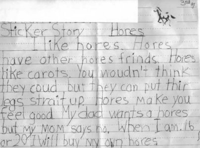 the kid is obviously talking about horses xD