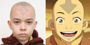 Ummm..this is hard they all sucked... i think the kid who played aang cause atleast he kinda looked like aang even though his अभिनय was horrible. And i wish the tattoe he had wasn't changed so drasticly. This pic kinda looks like a mug shot though of him..lol