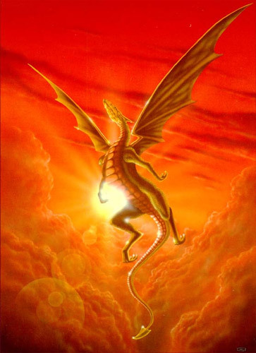 Mine is dragongirl because I l'amour dragons!!!, and the people in my old middle school called me that so it's my new nickname, it fits me pretty well, nd btw the pic is of a dragon flying over a sunset!