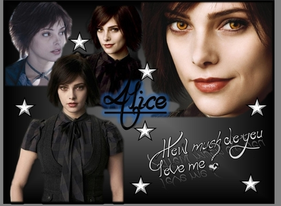alice cullen she is sweet cute nice kink loveing careing pretty and can see the future.