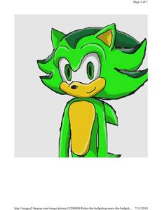 Hello Shadow i'm Rocket the Hedgehog. O.O bạn and me look alot alike O_O