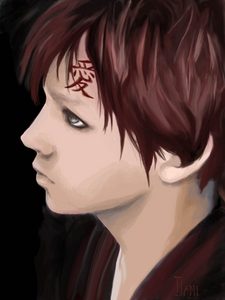 Sabaku no Gaara, Kazekage of Sunagakure.... sry fangirls, i dont crush on shallow celebrities, only characters, cuz they have depth!(though i admit Taylor Lautner is hot!) everyone says hes not much to look at though! i thought id give realism a shot then! tell me what te think!