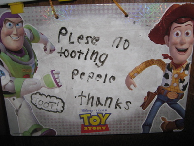 """***Reads this sign*** **thinks in head** """"Oh crap,, i hope no one notices..."""""""