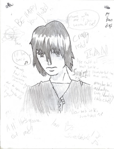 1. I read a lot 2. I write a lot 3. I Liebe Anime 4. I Liebe astronomy. 5. I love~ drawing. It's my life. (ignore the Zufällig Schreiben on the pic... I get bored easily and I have a tendency to ramble.)