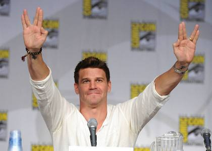 Here is mine...That is David Boreanaz at Comic Con...♥