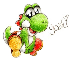 awww wat a cutie! i found this of yoshi online :
