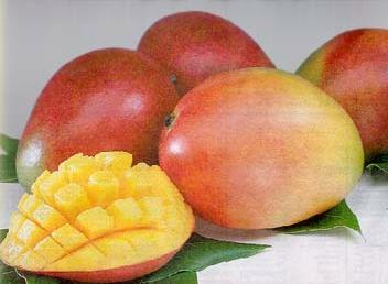 Mangoes! They're sweet and yummy:)
