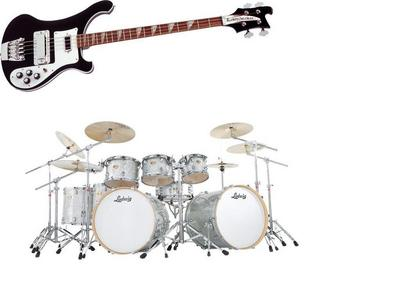 I play the basse, bass guitare and the drums