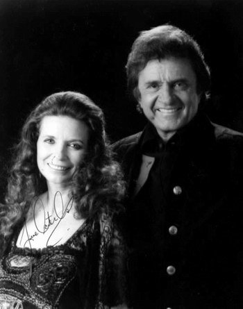 Well my kegemaran actor has already been used and I don't feel like putting him again so I'll use my kegemaran singer instead Name: Johnny Cash Career: he was a singer, actor and penulis From: The Gospel Road, Riding The Rails, Pride of Jesse Hallam Pictured with his wife June.