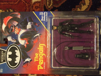 I have an original batman Returns Catwoman action figure from 1990-1991(?), it has a manufacturing packaging flaw, it is in a batman Returns 'The Penguin' package. It has never been opened and I am looking for conselhos on what it might be worth