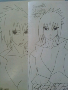 Hellz yeah!! I l'amour Sasuke. He's my faves :D. And i'm an artist!! Check it: