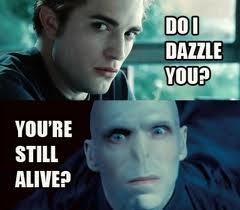 Cedric is seeking revenge as a sparklepire poor Voldy XD.