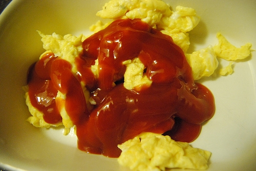 Why do some people like ketchup on their eggs? It tastes so gross!