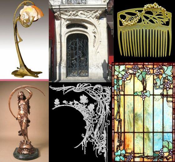 Various forms of Art Nouveau