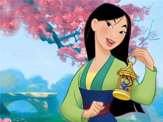6-mulan, 62% voted for her... she presents the beauty of asian people and their bravery. natural beauty, doesn't need anymake up to make her more beautiful, she's perfect the way she is.