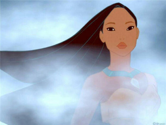 5-pocahontas,62% voted for her... long flowing hair, nice strong body, gotta 사랑 the eyes in this picture, (a good runner), face of a leader, with loyalty.