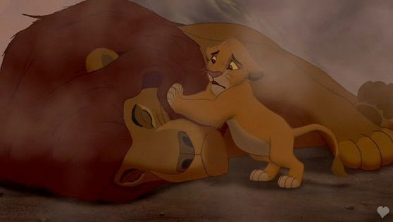2.Mufasa's death he gaveup his life to save his son's life that's truely a good father if it wasn't for Scar he might still be alive but then we would have no story