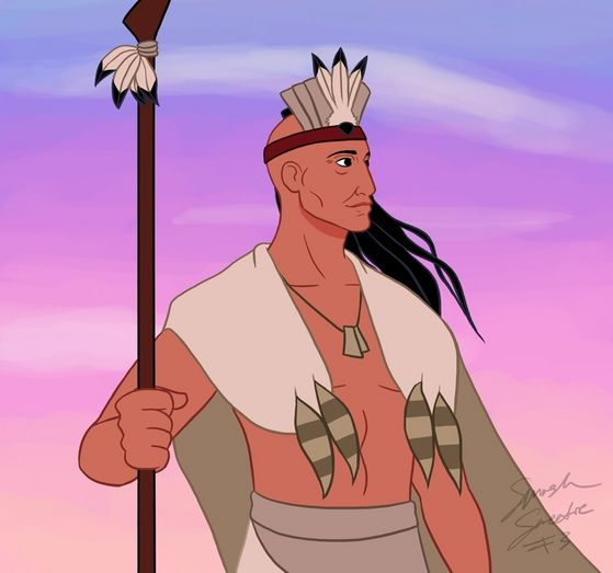 "2)Powhatatn,      Movie:Pocahontas,     Voice:Russels Means, Memorable Quote(s): ""You must choose your own path"" ""Daughter stand back!""  Pros handsome, wise, the chief, Cons very over protective"