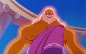 "6) Zeus, Movie:Hercules, Voice:Rip Torn, Memorable Quote(s): ""Now watch your old man work!"" Pros. hot body, head god Cons. not that bright"